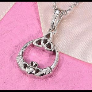 """Trendy pendant on 20"""" sterling silver necklace."""